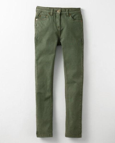 Superstretch jeans in olivgr n von mini boden for Mini boden schuhe